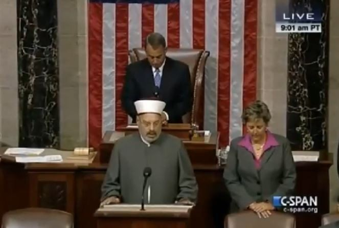 While Muslims are killing American soldiers and civilian, murdering and torturing Christians in Muslim countries, and waging jihad against the West, lawmakers invited an Imam to open their session with a prayer.
