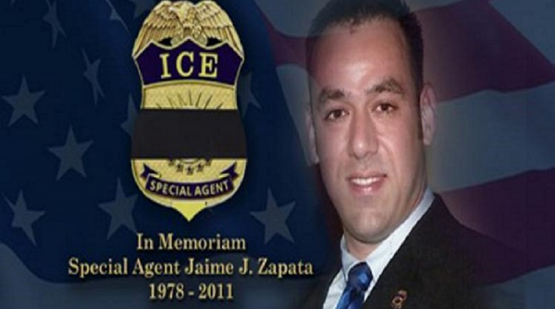 ICE Special Agent Jaime Zapata was ambushed and killed by thugs from the Mexican cartel Los Zetas.
