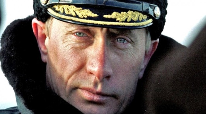 In this photograph taken of Putin while a member of the Russian KGB he displays a striking resemblance to the actor -- Daniel Craig -- the latest actor to play super-spy James Bond.
