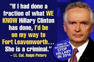 Ralph Peters - Stop Hilllary FB