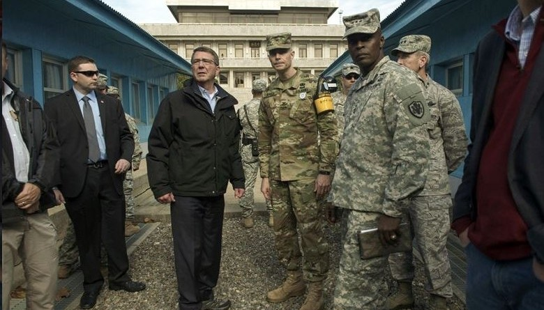 Ash Carter in Korea
