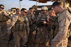 US Marines training with member of the French Foreign Legion.