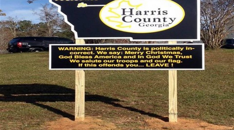 Georgia Sheriff Welcome Sign