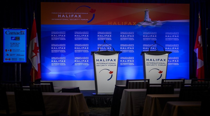halifax security forum podium