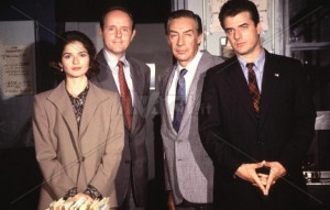 The cast of Law & Order in 1994.