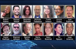 The photographs of men and women killed in a terrorist attack in California. Yet, Obama's attorney general said her priority was fighting islamophobia.