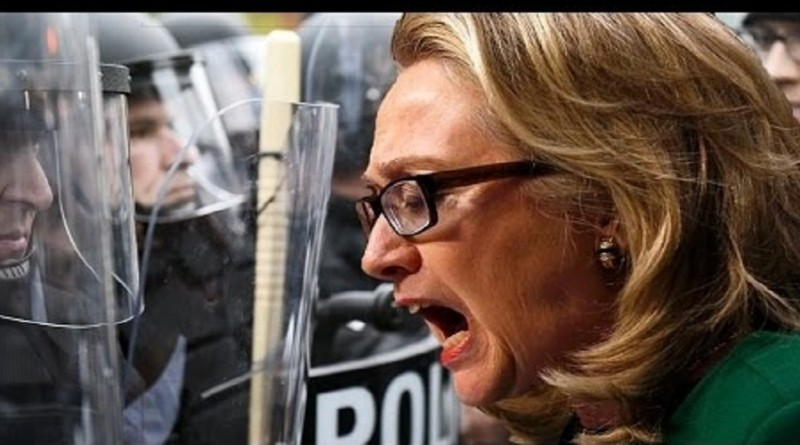 Clinton believe American cops are as violent as terrorists.