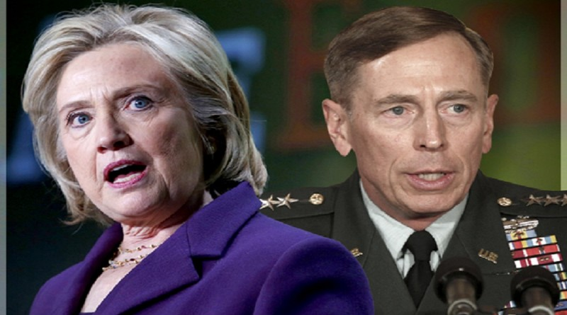 Gen. Petraeus was convited for doing what Hillary Clinton is accused of doing. He lost one of his four-stars, she is running for president.