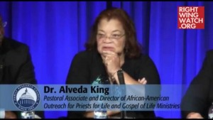 Alveda King is a woman of substance and convictions based on conservative principles.