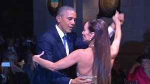 Following his Cuban visit and anti-America speech making, President Obama visited Argentina to trip the light fantastic.