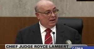 Judge Lambert, who was appointed by Hillary Clinton's husband, handed the Democratic presidential candidate a curve ball.