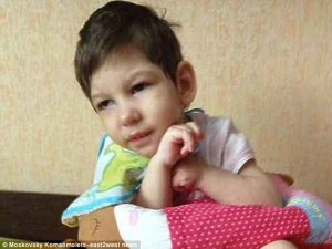 The beheaded child was identified as a 4-year-old female toddler named Anastasia (Nastya) Meshcheryakova.