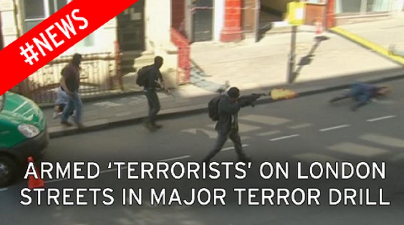 Police terror drill