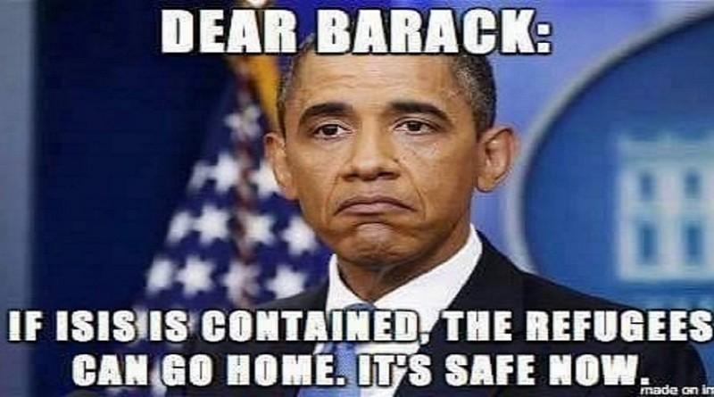 Obama a refugee
