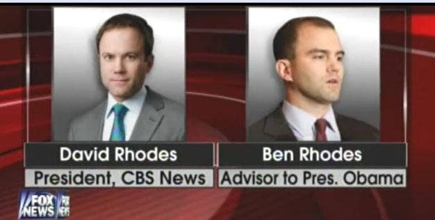 Ben Rhodes' brother is President of CBS News, yet there is no investigation into how CBS helped Obama push his Iran plan.