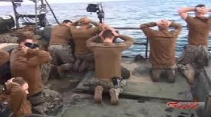 Photo: American sailors being rousted like criminals by the Iranian navy. Only Democrats could look at this photo and depict it as honorable. They are notorious for trying to hurt the military, intelligence community and law enforcement.