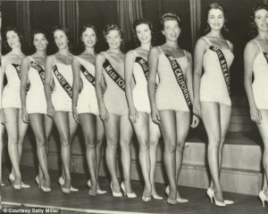 Sally Perdue-Miller competing for the Miss America Crown.