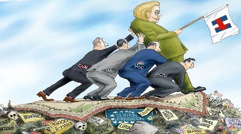Hillary Propped Up