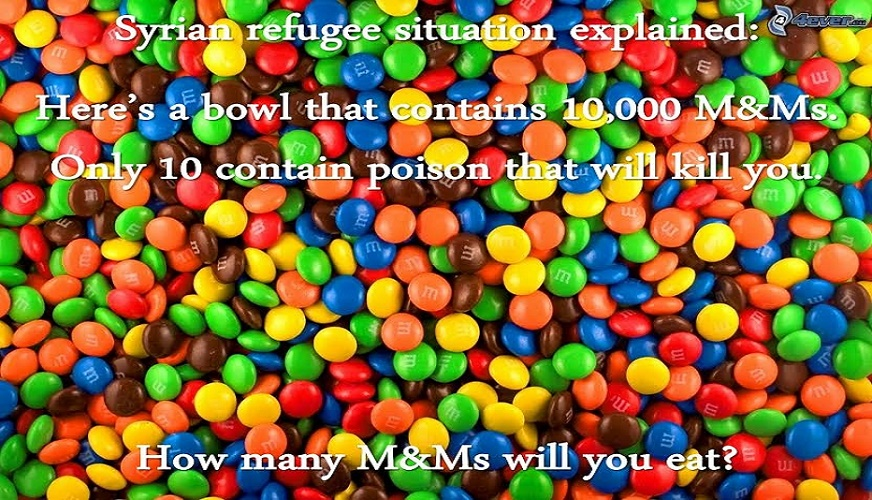 Syrian refugee candy
