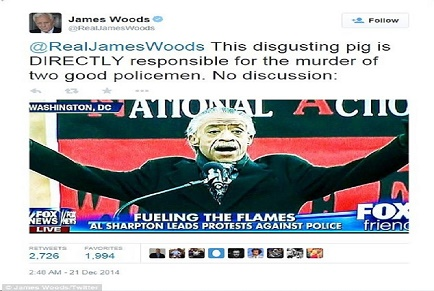 Actor James Woods completely defines Rev, Al Sharpton in but a few words.