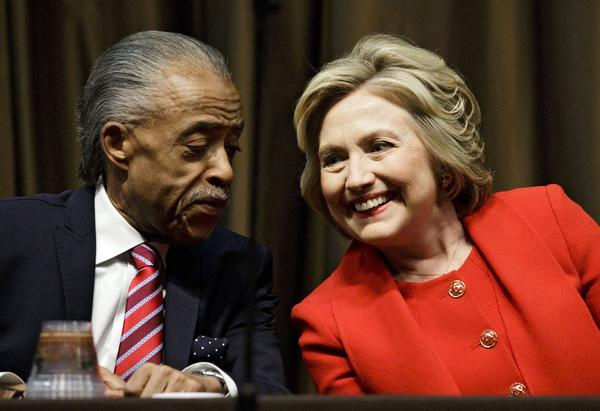 Hillary Clinton and her close friend Rev. Al Sharpton.