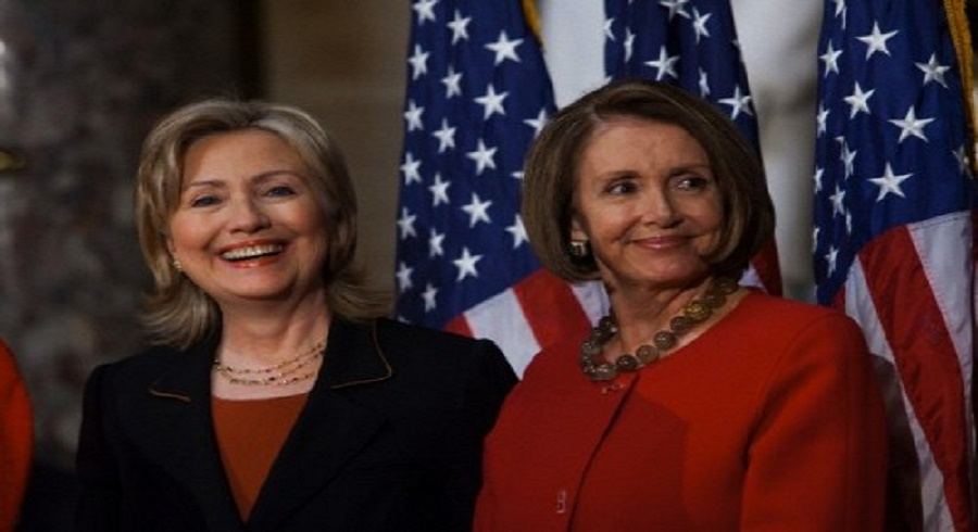 Pelosi and Clinton