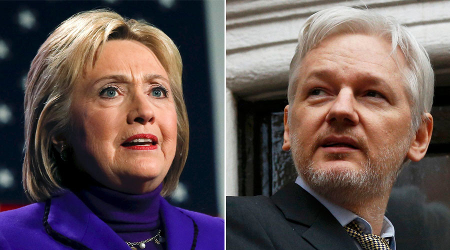 """Google is directly engaged with Hillary Clinton's campaign,"" Assange said in a video. ""Of course, when she is in power…she is a problem for freedom of speech. We know what she is going to do. She made the chart for the destruction of Libya—she was involved in the process of taking the Libyan armory and sending it to Syria."""