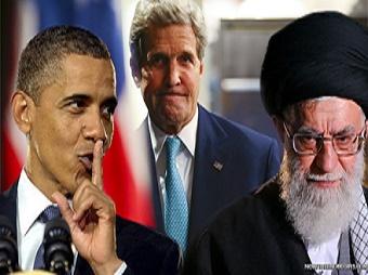 Left to right: Barack Obama, John Kerry, Iran's Ayatollah Khamenei.