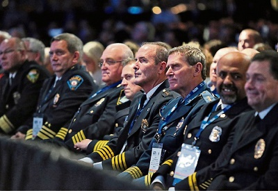 Police commanders attending a symposium of homeland security and protection from WMD within U.S. cities.