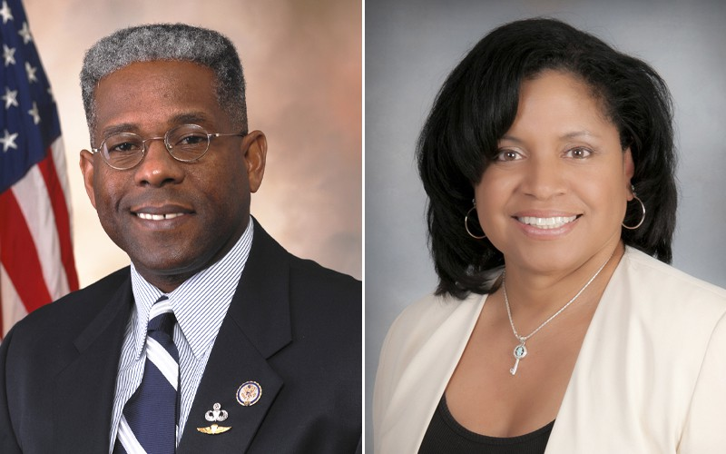 Allen West and his wife, Angela Graham-West.