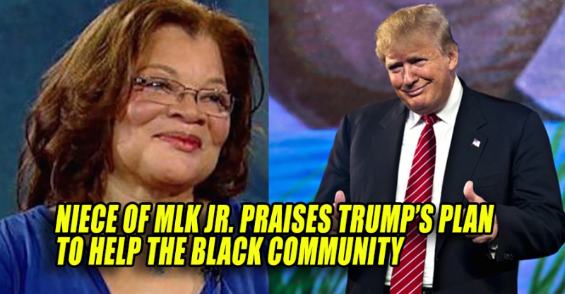 Alveda King's endorsement of Donald Trump for President is being ignored by most of the news outlets,