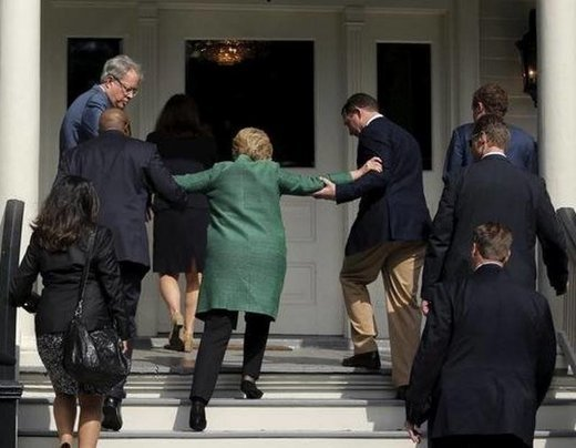 The campaign claimed that Clinton merely tripped on the stairs. And the news media accepted that as the truth.