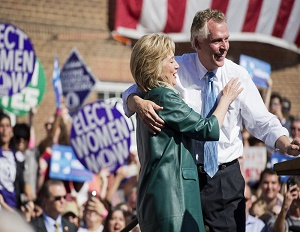 Hillary Clinton and Terry McAuliff.
