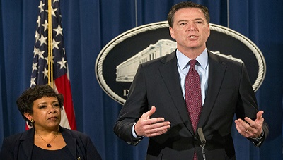 FBI Director James Comey and Attorney General Loretta Lynch are held in low-esteem for their political decisions.