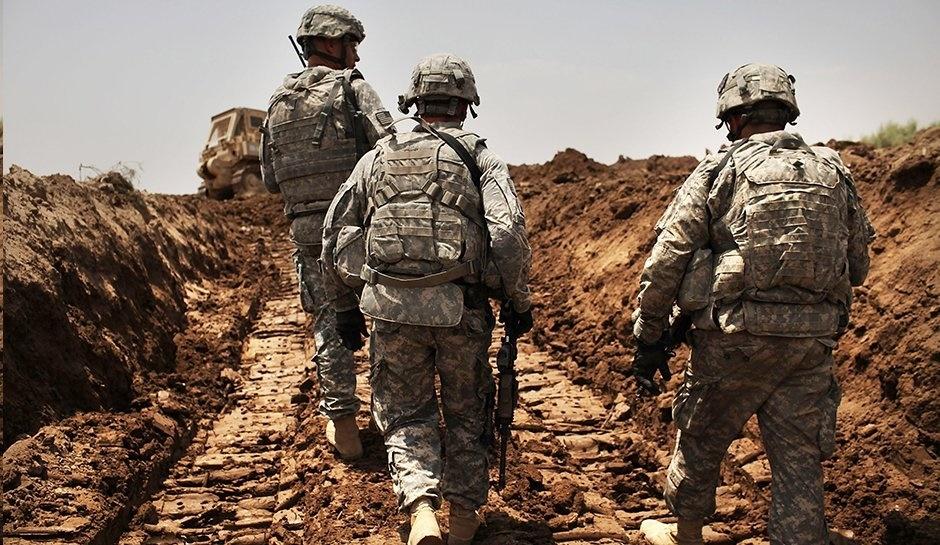 Afghan American troops
