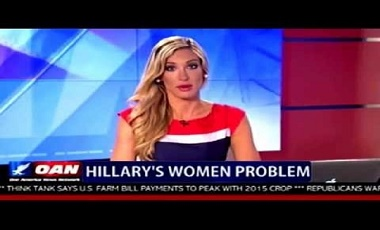 One America News Network anchor Cassie Leuffen. OANN is the only major broadcast news outlet covering the entire Wikileaks and James O'Keefe's exposure of Hillary Clinton and the Democrats scandals.