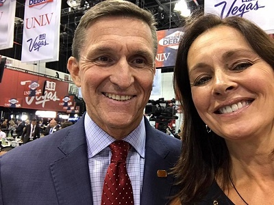 Gen. Flynn and Amb. Chris Stevens former fiance, actress and author Lydie Denier were supporting Donald Trump at the GOP convention in Las Vegas.