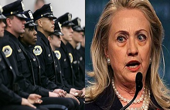 During her campaign, Hillary Clinton had an enormous amount of anti-police rhetoric flow from her mouth especially in front of African American and Muslim audiences.