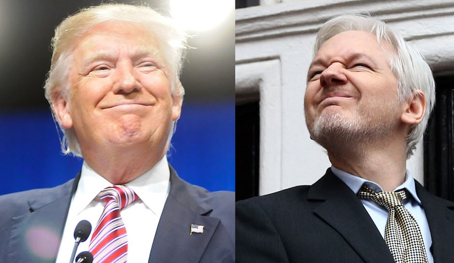 Wkilleaks Julian Assange-Donald Trump