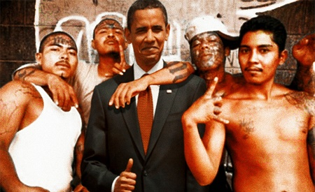 While photographs such as this are considered in poor taste, President Obama has allowed between 50,000 and 70,000 members of MS-13 to operate in the U.S.Most of them are illegal aliens.