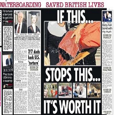 British news stories highlighted how the CIA was able to warn them about an attack because of their waterboarding a jihadist in Pakistan.