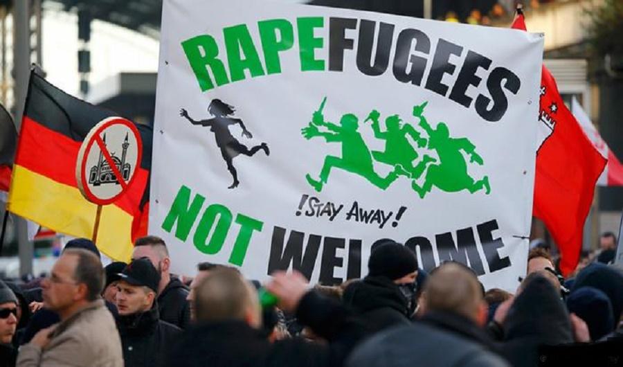 German Muslims Rapefugees Not Welcome
