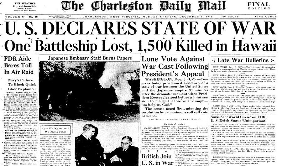 Pearl Newspaper_December_8_1941