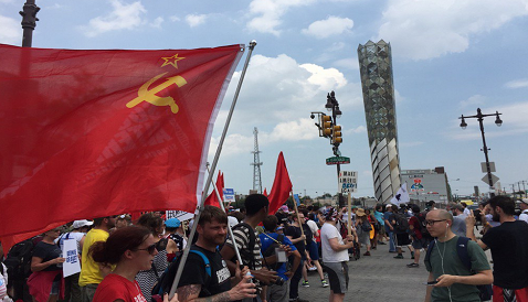Don't expect the Democrat-loving news media to show these flags being flown by anti-trump radicals.