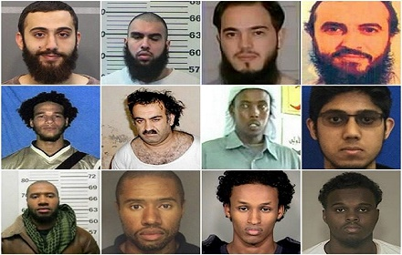 According to FBI officials, there have been 105 terrorism cases where the suspects had the name Muhammed.