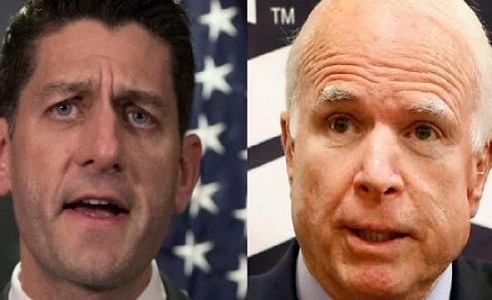 Sen. John McCain and Speaker of the House Paul Ryan are both being financially supported by ultra-leftist George Soros.