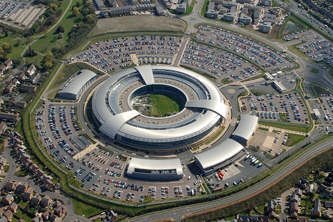 Benhall Aerial View of GCHQ in London.