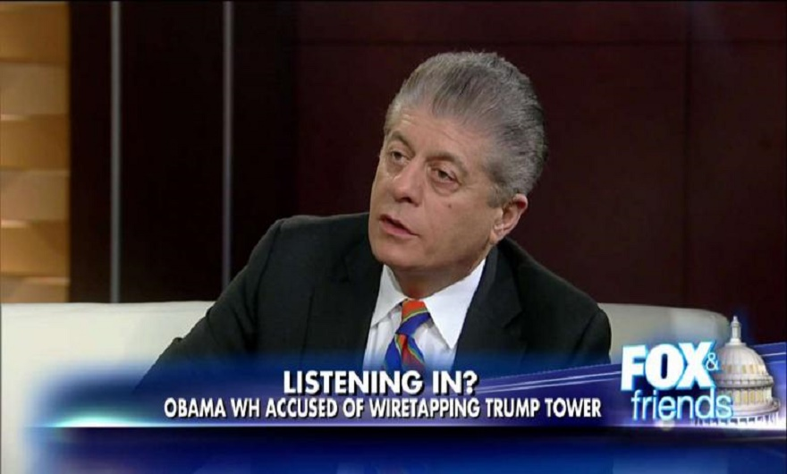 Well-respected Judge Andrew Napolitano broke the news story that British spies helped Barack Obama surveil Donald Trump's campaign and his transition team.