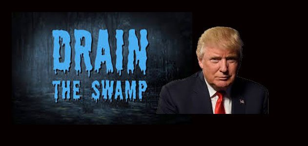 "Donald Trump's slogan ""Drain the Swamp"" received the same enthusiasm as his slogan about Hillary Clinton: ""Lock her up!"""