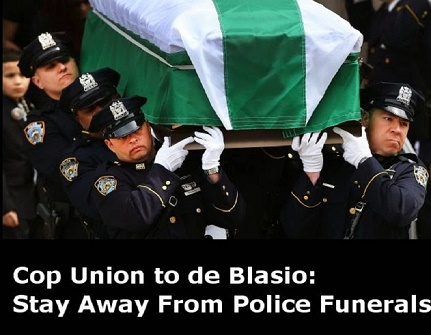 NYPD police officers have reacted to New York Mayor Bill de Blasio's anti-cop speeches and messages.
